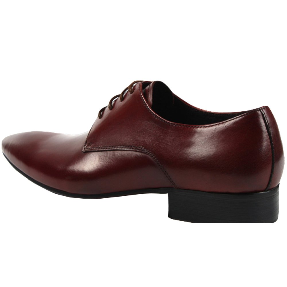 LinShuiXian Herren Geschäft Spitze Arbeit Uniform Schwarz Rot Spitze Geschäft Leder Formal Schnüren Schuh Büro Abend Party Täglich Draußen Derby Schuhe Für Männer WineROT 614b4b