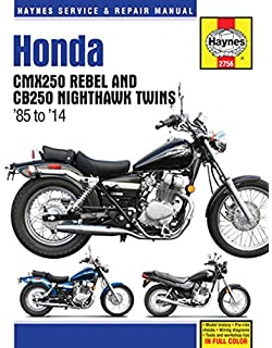 Honda CMX250 Rebel And CB250 Nighthawk Twins U002785 U002714 (Haynes Service U0026