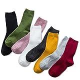Women's Cotton Socks Slouch Sock Casual Socks 8 Pairs