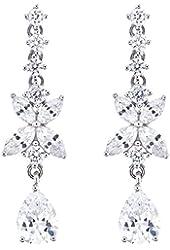 Sterling Silver Cubic Zirconia Drop Dangle Earrings