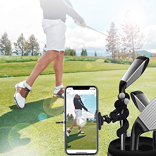 Golf Phone Holder Clip Golf Swing Recording Training Aids,Record Golf Swing/Short Game/Putting,Golf Accessories,Universal Smartphone Holder for the Golf Trolley ,Mobile phone holder,Selfie stick,Flexi