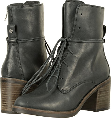 UGG Womens Oriana Ankle Boot Black Size (Ugg Lace Up Boots)