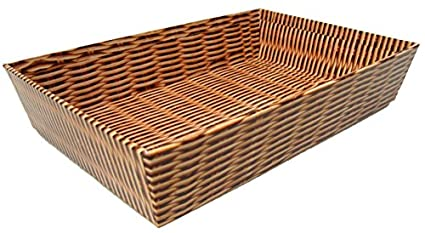 10 x cartón regalo cesta bandejas – Realista tradicional cesta de mimbre efecto, cartón,