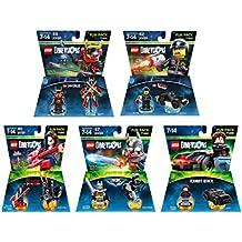 Excalibur Batman + Knight Rider + Adventure Time Marceline + The Lego Movie Bad Cop + Ninjago Nya Fun Packs - Lego Dimensions (Non Machine Specific)