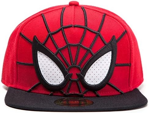 Spider-Man Cap 3d Snapback with Malla Eyes Gorro Marvel Comics ...