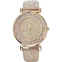 Women Quartz Watch, Srogem Ladies Bling Wrist Watch Crystal Jewelry Bracelet Watches (Gold)