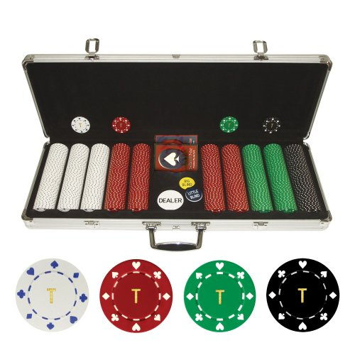 Personalized Monogrammed 500 11.5 Gram Suited Poker Chips in Case