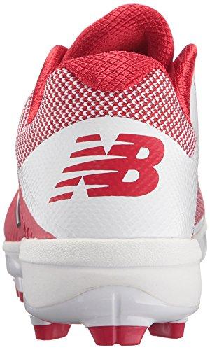Nuovi Equilibrio Mens Pl4040v4 Scarpa Baseball Stampato Rosso / Bianco