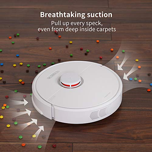 Roborock S6 Robot Vacuum, Robotic Vacuum Cleaner and Mop with Adaptive Routing,Multi-Floor Mapping, Selective Room Cleaning, Super Strong Suction, and Extra Long Battery Life, Works with Alexa(White)