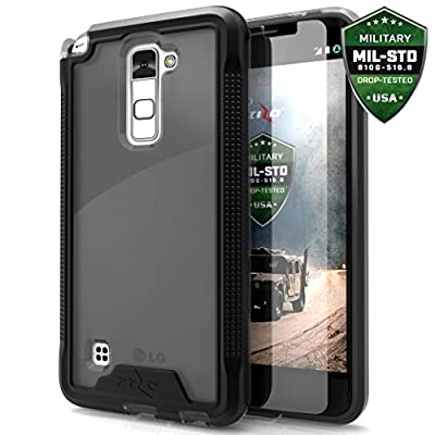 LG Stylo 2 Case, Zizo [ION Series] with FREE [LG Stylo 2 Screen Protector] Transparent Clear [Military Grade Drop Tested] for LG Stylo 2 LS775 L82VL