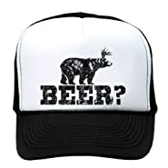 Retro Deer Beer Bear - Funny Vintage Style Trucker Cap Hat