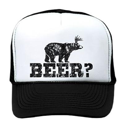 Retro Deer Beer Bear - Funny Vintage Style Trucker Cap Hat