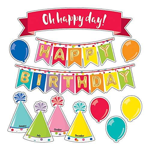 Fun Express - Just Teach Happy Birthday Mini Bb Set - Educational - Classroom Decorations - Bulletin Board Decor - 27 Pieces