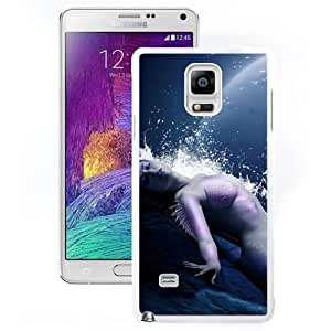 Beautiful And Unique Designed With Mermaid Water Spray Moon (2) For Samsung Galaxy Note 4 N910A N910T N910P N910V N910R4 Phone Case