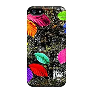 Case Cover Colorful Leaves/ Fashionable Case For Iphone 5/5s
