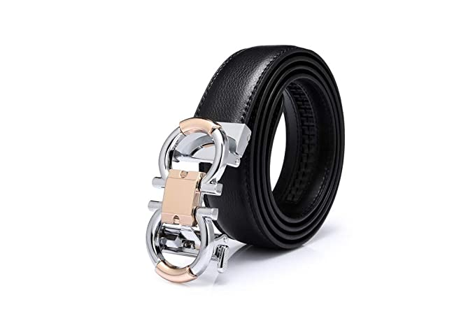 Apparel Accessories Lovely New Flower Automatic Bcukle Design Belt Men Genuine Leather High Quality Luxury Male Strap With Buckle Causal Men Ratchet Belts