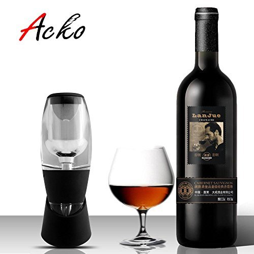 Acko Wine Aerator Decanter Set, Fast Aeration Makes Red Wine More Flavorful, Kitchen Tool for Home Use & House Party - Conundrum Springs