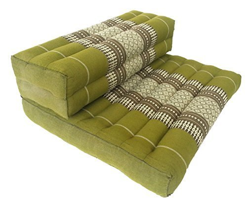 Thai Organic Kapok Filled Cushion, Green by Thailand