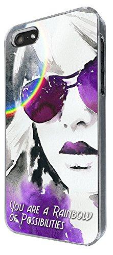 773 - You Are Rainbow of Possibilities Design iphone 4 4S Coque Fashion Trend Case Coque Protection Cover plastique et métal