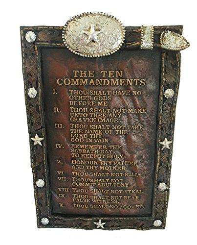 Concho Buckle (LGC Western 10 Commandments Rustic Plaque Silver Concho Prayer Buckle)