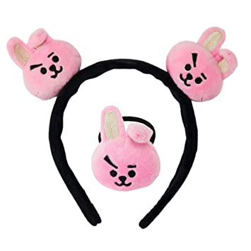 BT21 Cute Mang Chimmy One Size Elastic Tie Hair Band Head Wearing Accessories Hairband Clipper for