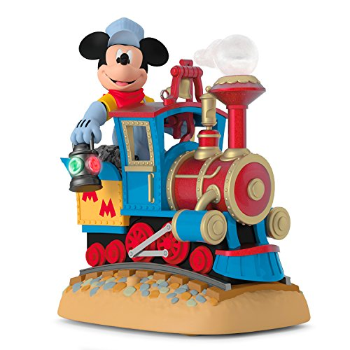 Hallmark Keepsake 2017 Disney Mickey's Magical Railroad Sound Christmas Ornament With Light and Motion