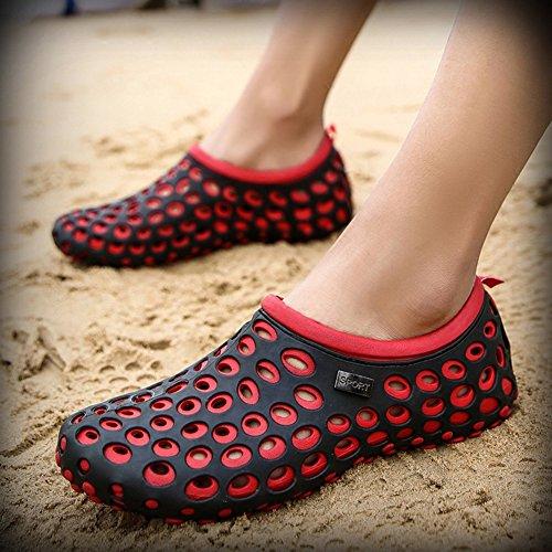Di dimensioni Sandali Slittata Di Maschi Grigio Pantofole Baotou EU39 Tempo Spiaggia Spiaggia Rosso UK6 Colore 5 Sabbia QIDI Libero Sabbia q1StZww