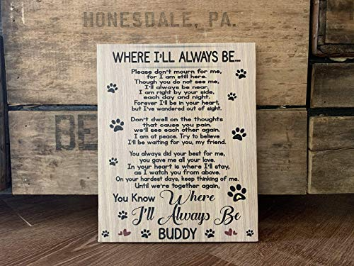 Dog Memorial Personalized Gift, Remembering A Man's Best Friend, Personalize With Pet Name