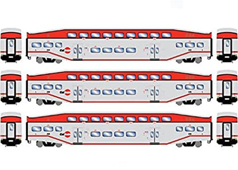 Athearn ATH25948 HO RTR Bombardier Coach, Caltrain (3) - Athearn Ho Brake