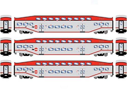 Athearn ATH25948 HO RTR Bombardier Coach, Caltrain