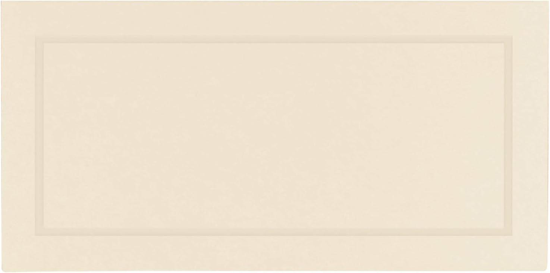 amscan International Confezione da 50 Pezzi Colore Avorio Segnaposto in Carta Lucida