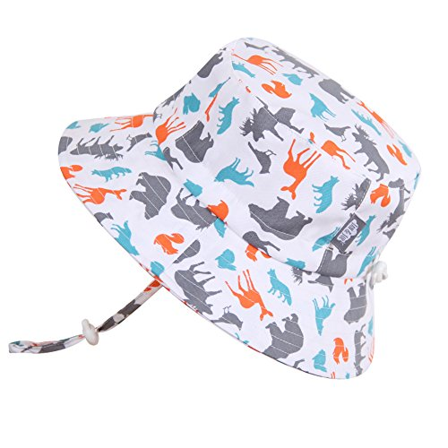 baby-sun-hat-with-chin-strap-adjustable-head-size-50-upf-cotton-bucket-s-0-6m-woodland-