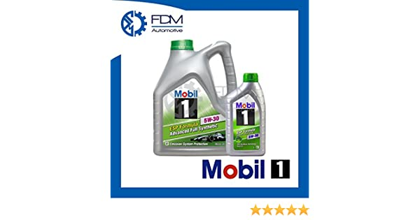 Aceite para motor Mobil1 ESP Formula 5W-30 Fully Synthetic, 5 litros: Amazon.es: Coche y moto