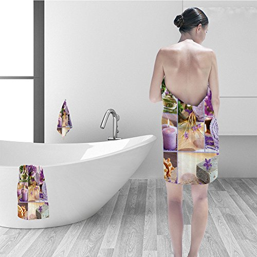Nalahomeqq Hand towel set Spa Decor Lavender Themed Relaxing Joyful Spa day Aro herapy Oils and Candles Fabric Bathroom Decor Purple and - Spa Aros