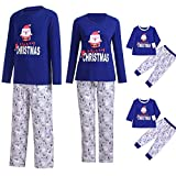 G-real Pajamas Set,Men Daddy Santa Claus Tops Blouse Pants Family Pajamas Sleepwear Christmas Set+Fall Winter Set (Men (A), M)
