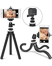 Xenvo SquidGrip Flexible Cell Phone Tripod - Portable Smartphone and Action Camera Holder - Tripod Stand Compatible with iPhone, GoPro, Android, Samsung, Google Pixel and All Mobile Phones