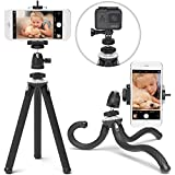 Photo : Xenvo SquidGrip iPhone Tripod, GoPro Tripod - Flexible Cell Phone Tripod Stand with Ball-Head 360, Compatible with iPhone, Android, Samsung, Google Smartphones, and ANY Mobile Phone