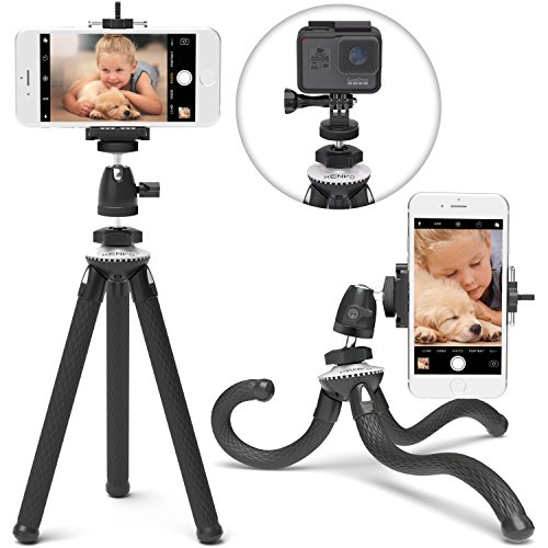 Xenvo SquidGrip iPhone Tripod, GoPro Tripod - Flexible Cell Phone Tripod Stand with Ball-Head 360, Compatible with iPhone, Android, Samsung, Google Smartphones, and ANY Mobile Phone
