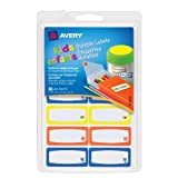 Avery Durable Labels for Kids' Gear, Assorted, 0.75 x 1.75 Inches , Pack of 60 (41430)