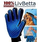 [Premium Version] Pet Grooming Glove and Deshedding Brush -...