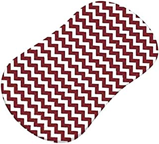 product image for SheetWorld Fitted Bassinet Sheet (Fits Halo Bassinet Swivel Sleeper) - Burgundy Chevron Zigzag - Made In USA