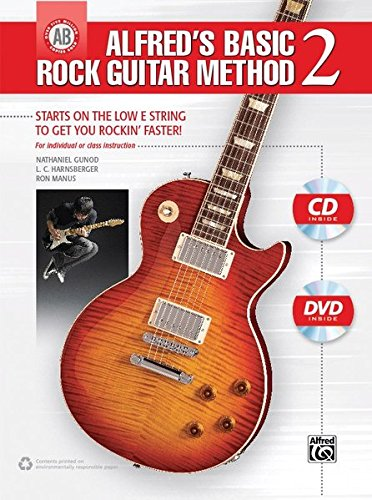 (Alfred's Basic Rock Guitar Method, Bk 2: Starts on the Low E String to Get You Rockin' Faster, Book, CD & DVD (Alfred's Basic Guitar Library))