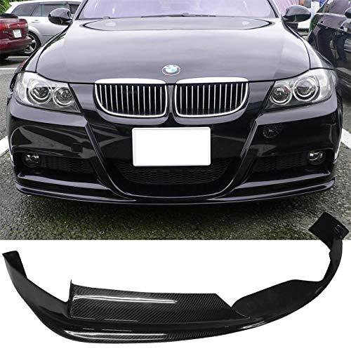 (Front Bumper Lip Fits 2005-2008 BMW E90 3-SERIES SEDAN | 3D Style Carbon Fiber (CF) Front Lip Spoiler Splitter by IKON MOTORSPORTS | 2006 2007)