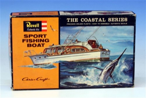 Revell 1:56 H-387:100 Sport Fishing Boat New in Sealed Box