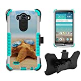 LG G3 Case, G3 Case, D850,VS895,LS990,D851, Beyond CellTri ShieldHigh Impact Armor Hybrid Rugged Case With Built in kickstand, Belt Clip Holster-Sea Star Sun Glasses-FREE Screen Protector