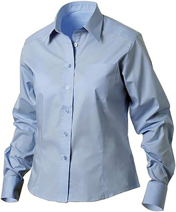 newwave - Camisas - para Mujer Azzurro Oxford XL: Amazon.es: Ropa y accesorios