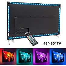 TV backlight, Nexlux 9.8ft LED USB TV Bias Lighting Kit 5050 RGB Multicolor Back Lightings Strip with 44-key IR Remote Controller for 46inch~60inch HDTV PC Monitor Home Theater Decoration