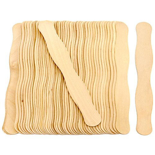 100 Natural Wavy Jumbo Wood Fan Handles Wedding Fan Sticks -