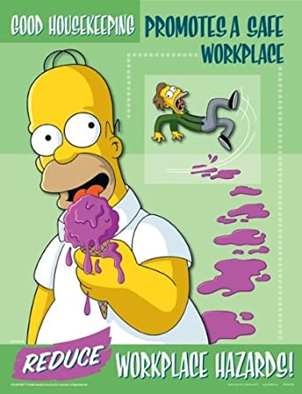 Simpsons Workplace Housekeeping Safety Poster - Good