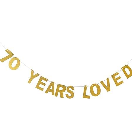 70 Anniversario Di Matrimonio.Fenteer Anniversario Di Matrimonio Striscioni 60 70 80 70 Come